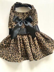 Handmade Leopard Theme Doggie Dress Size S