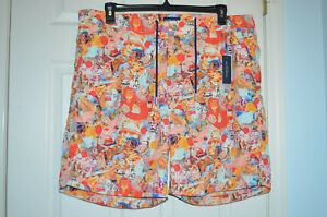 """$178 Peter Millar Collection """"Triple Scoop"""" Swim Trunks Mens Size XXL Coral"""