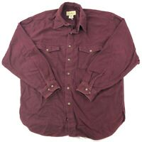 Eddie Bauer Flannel Button Up Shirt Mens Large Red Long Sleeve Outdoor Wear
