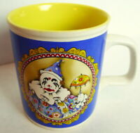 Harlequin Clown Coffee Mug Vintage 1985 Enesco
