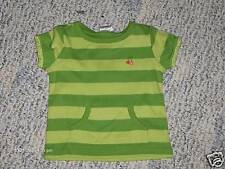 """NWT-Gymboree """"Cherry Baby"""" SS green striped top - 18mos"""