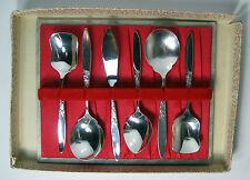 Vintage Grosvenor Christine EPNS Silverplate Cutlery Set 6pcs, Spoons, Knife