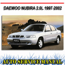 DAEWOO NUBIRA 2.0L 1997-2002 WORKSHOP SERVICE REPAIR MANUAL ~ DVD