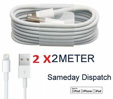 Genuine 2x 2 M MFi iPhone 5 5 5S 6 6S 7 7+ C Lightning Sync Cargador Cable De Datos Usb