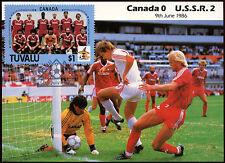 Football Maxicard 1986, Canada V USSR, Handstamped #C26399