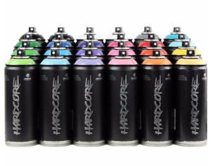 MTN HARDCORE Montana Colors Graffiti Spray Paint 12 CANS CHEAP P&H Select Colour