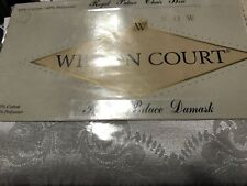 1996  Vintage New Wilton Court Damask Royal Palace Chair Bow white
