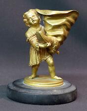 19èm rare statuette sculpture bronze doré 13cm860g petit poucet à la botte déco