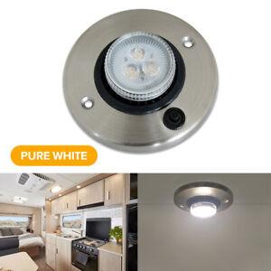 12V LED Directional Eyeball Cabinet Reading Light RV Trailer Cargo Boat Switched