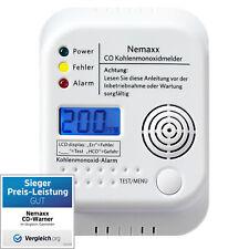 NEMAXX CO Melder Kohlenmonoxidmelder 85 dB, Gasmelder, Gaswarner mit LCD-Display