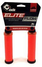 ODI Elite Flow Lock-On Mountain Bike Grips with Orange Clamps