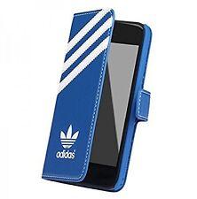 Genuine ADIDAS Booklet Flip Wallet Custodia Cover per iPhone 5s 5 Bluebird Bianco se