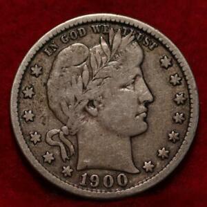 1900-S San Francisco Mint Silver Barber Quarter