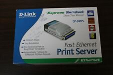 D-Link Dp-301p Fast Ethernet Print Server Never Used but Box Opened