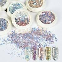 1 Box Nail Art Glitter Powder Sequins Broken Flakes 3D Charms Dust Flakes Decor