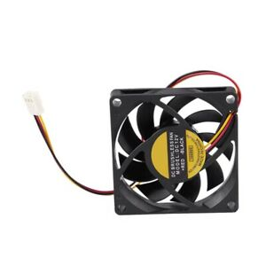 70x70mm 12V 3-Pin PC Computer Case CPU DC Brushless Cooler Cooling Fan Blac Blac