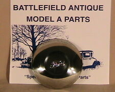 1930-1931 Model A Ford Stainless Steel Hub Caps. Set of Five.