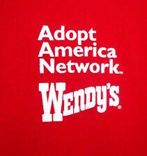 WENDY's med Henley shirt fast food chain Hamburgers work-wear Halloween OG polo