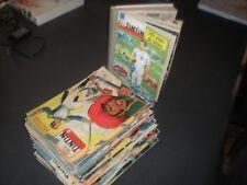 LOT DE 60 MAGAZINES JOURNAL TINTIN ANNEES 1956 A 1964 + LA RELIURE 55 INCOMPLETE