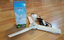 "16"" portable electric mini ceiling fan 3 blades 110v AC 6w + spare soft breeze"