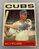 1964 Topps # 175 Billy Williams Baseball Card Chicago Cubs HOF