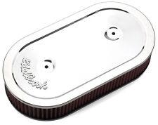 Edelbrock 1236 Pro-Flo cromato ovale Filtro aria più pulita per single 4 cilindro carb