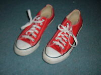 Converse Red Chuck Taylor All Star Low Top Sneakers M9696 Mens 6 women 8