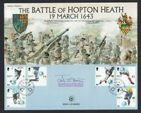 Battle of Hopton Heath 1643 2006 Cover Signed Deputy Lieutenant of Staffordshire