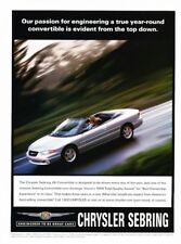 1999 2000 Chrysler Sebring Convertible Advertisement Print Art Car Ad J912