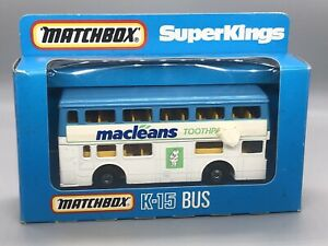 "Matchbox Superkings K-15 The Londoner ""Macleans Toothpaste""  Boxed"