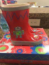 STEPHEN JOSEPH Robot Rainboots Rain Boots Size 6 NEW WITH BOX