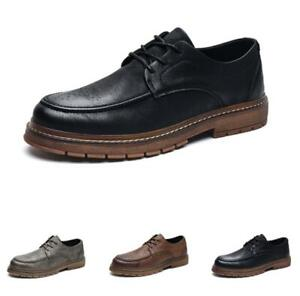 Retro Mens Dress Formal Business Leisure Shoes Work Office Oxfords Lace up New L