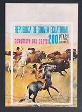 Briefmarken Kavalleristen Reiter Pferde Block 207 Äquatorialguinea