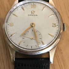 OMEGA 13322 9ct gold 1947 Post WW2 Dennison Case gents Vintage watch