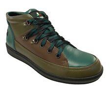 Travel Fox Cancun Men's Leather Khaki Multi Sneakers 916103-181