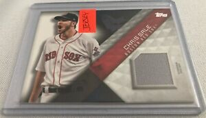 2018 Topps Baseball Series 1 Chris Sale Boston Red Sox Major League Material