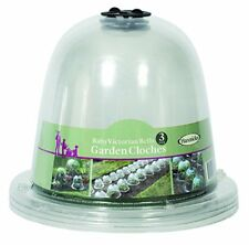 20 x 25cm 3 Haxnicks Clear Plastic Baby Bell Jar Cloches optional Ground Pegs
