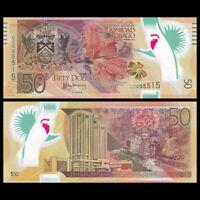 Trinidad and Tobago 50 Dollars, 2014, P-54, Polymer, 50th COMM., Banknote, UNC
