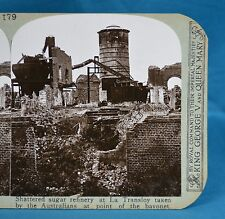 WW1 Stereoview Australian Taken Refinery At Le Transloy France Realistic Travel
