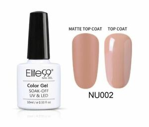 Elite99 Gel Nail Polish Nude Collection UV LED Matte Top Base Coat 10ML UK NU002