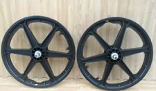 "2 NEW  20"" MAG BICYCLE  WHEELS 6 SPOKE BLACK FOR GT DYNO HARO OR BMX BIKE (SET)"