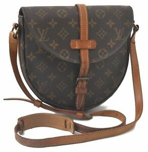 Auth Louis Vuitton Monogram Chantilly MM Shoulder Cross Body Bag M51233 LV C6034