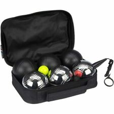 GETGO Set 6 boules de pétanque Deluxe acier chromé et mat