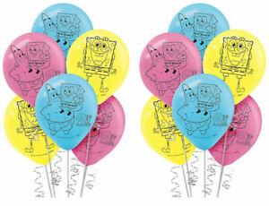 Spongebob Squarepants Latex Balloons (12count) Girls Birthday Party Decorations