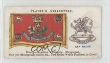 1924 Player's Drum Banners & Cap Badges #47 Montgomeryshire Yeomanry Card 1m8