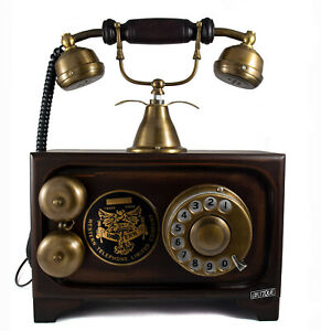 Western Company Telephone Landline Rotary Dial Home Decor Brass Telephones Gifts
