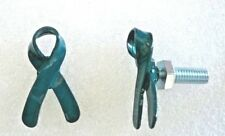 Ovarian Cancer Awareness teal ribbon license plate bolts