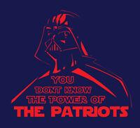 Darth Vader New England Patriots Power shirt Star Wars Tom Brady GOAT Gronk NE