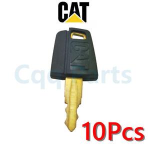 10pcs Fits Caterpillar Equipment Ignition Key CAT 5P8500 Excavator Paver Dozer