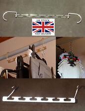 Wardrobe Space Saving Metal Hangers with Hook,37cm-UK STOCK-FREE P&P